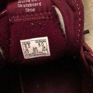 Vans Shoes - maroon high top vans 3670436f7